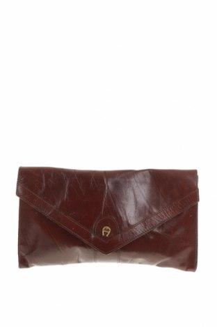 Γυναικεία τσάντα Aigner, Χρώμα Καφέ, Γνήσιο δέρμα, Τιμή 36,62€