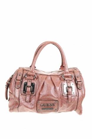 Γυναικεία τσάντα Guess, Χρώμα Ρόζ , Δερματίνη, Τιμή 44,17€
