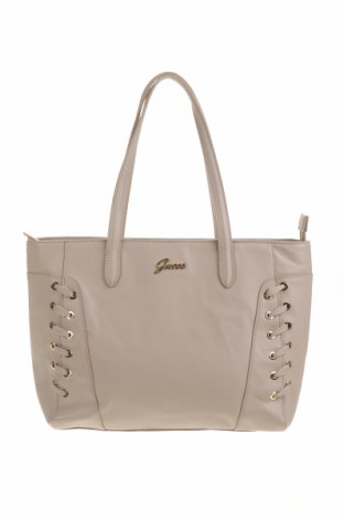 Γυναικεία τσάντα Guess, Χρώμα  Μπέζ, Δερματίνη, Τιμή 59,75€