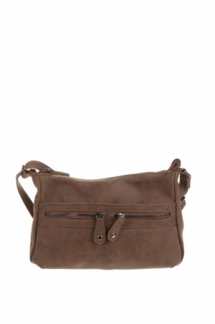Дамска чанта New Bags, Цвят Кафяв, Еко кожа, Цена 11,34лв.