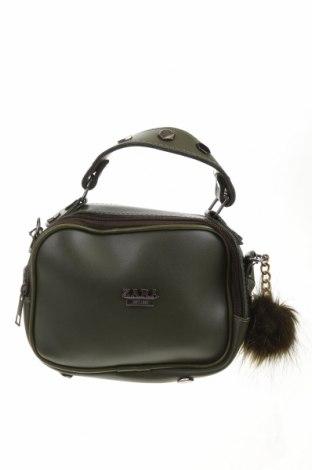 Γυναικεία τσάντα Zara, Χρώμα Πράσινο, Δερματίνη, Τιμή 16,62€