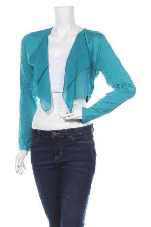 Дамска жилетка Aniston, Размер M, Цвят Син, 95% вискоза, 5% еластан, Цена 13,92лв.