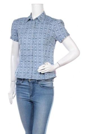 Дамска риза Ben Sherman, Размер L, Цвят Син, 97% памук, 3% еластан, Цена 17,55лв.