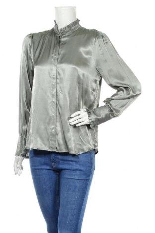 Дамска риза Bruuns Bazaar, Размер S, Цвят Зелен, Вискоза, Цена 36,96лв.