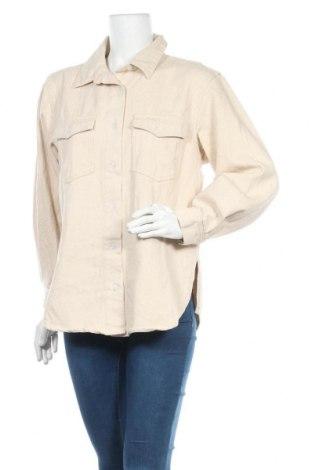 Cămașă de femei Missguided, Mărime S, Culoare Bej, Bumbac, Preț 79,51 Lei