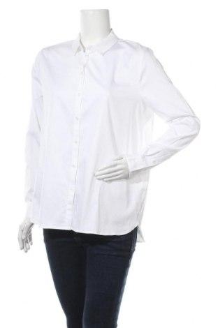 Дамска риза Object, Размер M, Цвят Бял, 98% памук, 2% еластан, Цена 31,68лв.