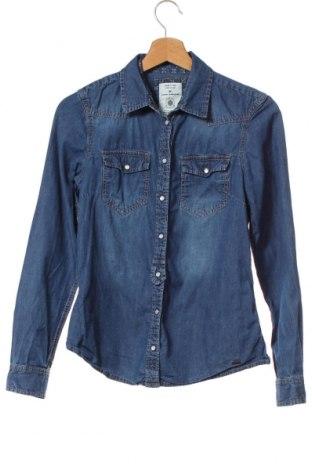 Γυναικείο πουκάμισο Tom Tailor, Μέγεθος XS, Χρώμα Μπλέ, Βαμβάκι, Τιμή 12,86€