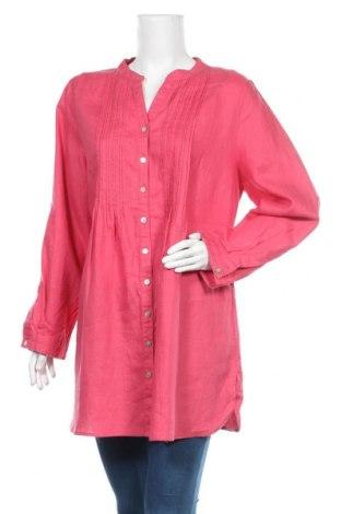 Dámská košile  Toscane, Velikost 3XL, Barva Růžová, Len, Cena  1259,00Kč