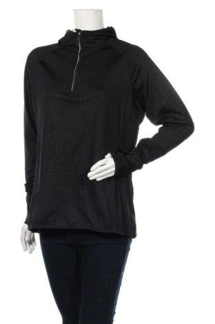Дамска спортна блуза Active By Tchibo, Размер L, Цвят Черен, 92% полиестер, 8% еластан, Цена 16,07лв.