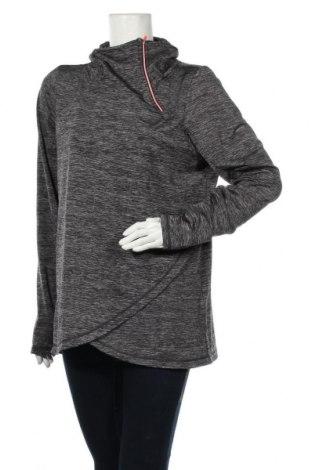 Дамска спортна блуза Active By Tchibo, Размер L, Цвят Сив, 92% полиестер, 8% еластан, Цена 16,96лв.