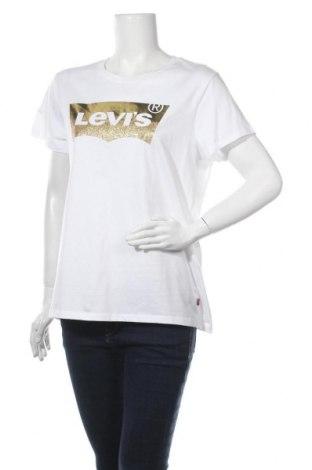 Γυναικείο t-shirt Levi's, Μέγεθος XL, Χρώμα Λευκό, Βαμβάκι, Τιμή 18,44€