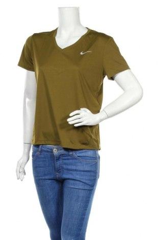 Tricou de femei Nike, Mărime M, Culoare Verde, 92% poliester, 8% elastan, Preț 91,58 Lei