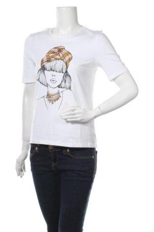 Дамска тениска ONLY, Размер XS, Цвят Бял, Памук, Цена 21,75лв.