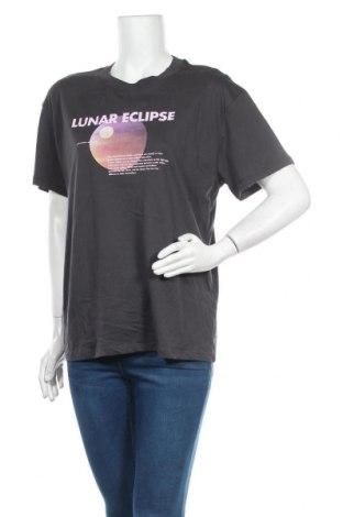 Дамска тениска Topshop, Размер L, Цвят Сив, Памук, Цена 12,80лв.