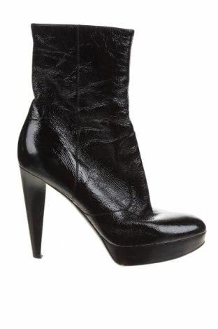 Дамски боти Sergio Rossi, Размер 37, Цвят Черен, Естествена кожа, Цена 238,50лв.