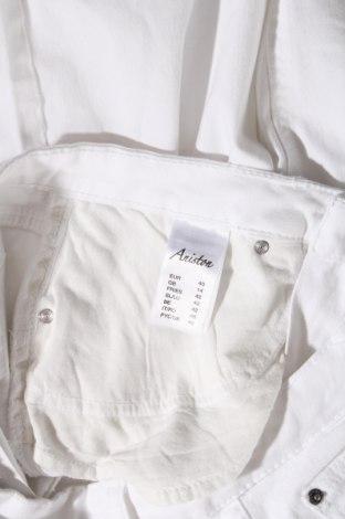 Дамски дънки Aniston, Размер L, Цвят Бял, 98% памук, 2% еластан, Цена 17,64лв.