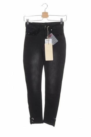 Γυναικείο Τζίν Desigual, Μέγεθος XS, Χρώμα Μαύρο, 98% βαμβάκι, 2% ελαστάνη, Τιμή 52,27€