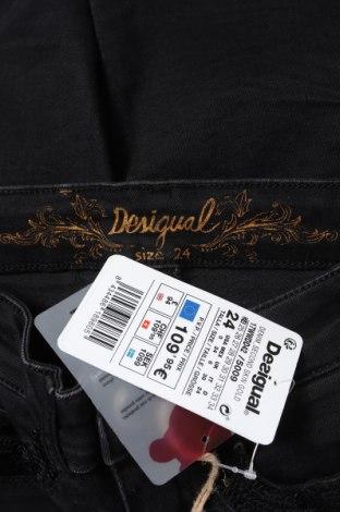 Дамски дънки Desigual, Размер XS, Цвят Черен, 98% памук, 2% еластан, Цена 126,75лв.