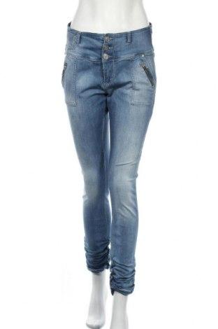 Дамски дънки Floyd By Smith, Размер L, Цвят Син, 64% памук, 30% полиестер, 3% вискоза, 3% еластан, Цена 12,18лв.