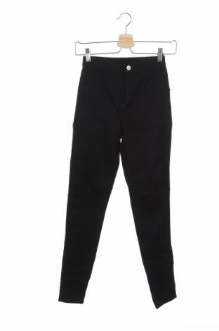 Дамски дънки H&M Divided, Размер XXS, Цвят Черен, 66% памук, 33% полиестер, 1% еластан, Цена 20,25лв.