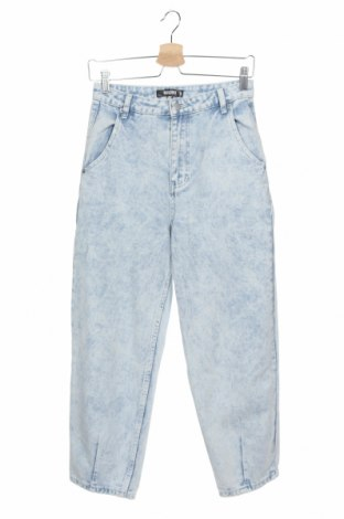 Дамски дънки Missguided, Размер XS, Цвят Син, 95% памук, 5% еластан, Цена 27,58лв.