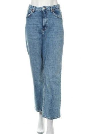 Дамски дънки Monki, Размер XXL, Цвят Син, 99% памук, 1% еластан, Цена 38,45лв.