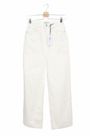 Дамски дънки Na-Kd, Размер XS, Цвят Екрю, Памук, Цена 27,08лв.
