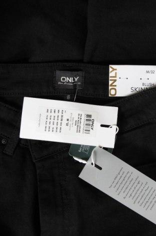 Дамски дънки ONLY, Размер M, Цвят Черен, 92% памук, 6% полиестер, 2% еластан, Цена 20,03лв.