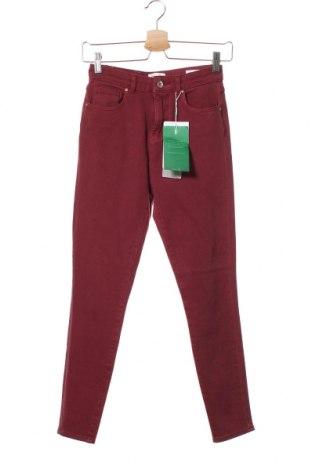 Дамски дънки ONLY, Размер S, Цвят Червен, 91% памук, 9% еластан, Цена 26,22лв.