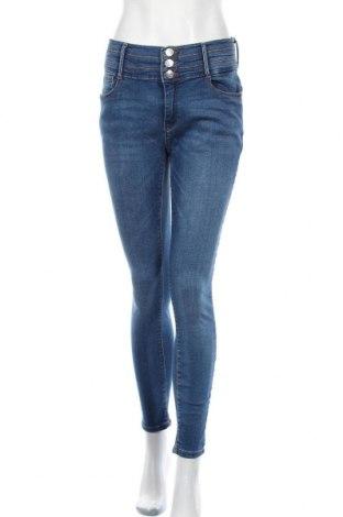 Дамски дънки ONLY, Размер L, Цвят Син, 98% памук, 2% еластан, Цена 49,50лв.
