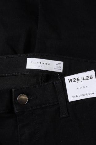 Дамски дънки Topshop, Размер XXS, Цвят Черен, 71% памук, 26% полиестер, 3% еластан, Цена 66,75лв.