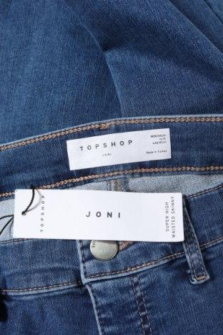 Дамски дънки Topshop, Размер XXS, Цвят Син, 70% памук, 27% полиестер, 3% еластан, Цена 66,75лв.