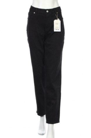 Дамски дънки Violeta by Mango, Размер L, Цвят Черен, 98% памук, 2% еластан, Цена 31,05лв.