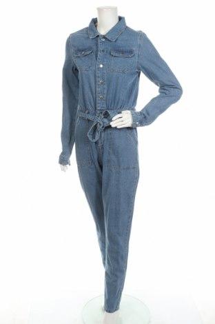 Salopetă jeans de femei Missguided, Mărime XS, Culoare Albastru, 89% bumbac, 11% viscoză, Preț 119,91 Lei