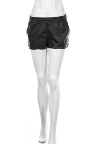 Γυναικείο κοντό δερμάτινο παντελόνι H&M Divided, Μέγεθος S, Χρώμα Μαύρο, Δερματίνη, Τιμή 12,15€