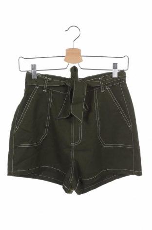 Дамски къс панталон Brave Soul, Размер XS, Цвят Зелен, 78% полиестер, 19% вискоза, 3% еластан, Цена 35,91лв.
