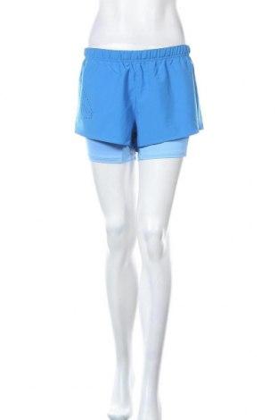 Pantaloni scurți de femei Reebok, Mărime L, Culoare Albastru, 87% poliester, 13% elastan, Preț 97,70 Lei