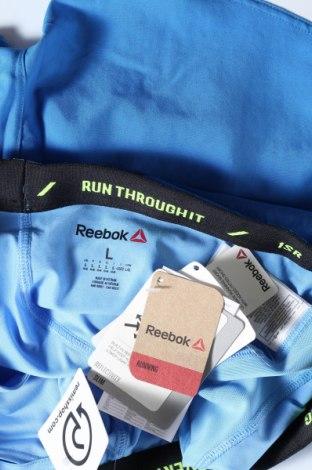 Pantaloni scurți de femei Reebok, Mărime L, Culoare Albastru, 87% poliester, 13% elastan, Preț 35,92 Lei