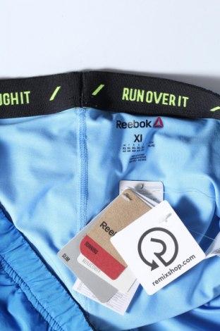 Pantaloni scurți de femei Reebok, Mărime XL, Culoare Albastru, 87% poliester, 13% elastan, Preț 35,92 Lei