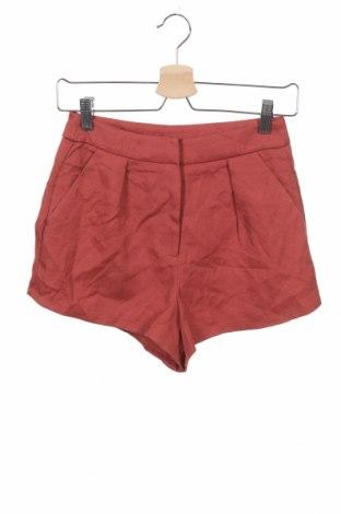 Дамски къс панталон Showpo, Размер XS, Цвят Червен, Полиестер, Цена 6,30лв.