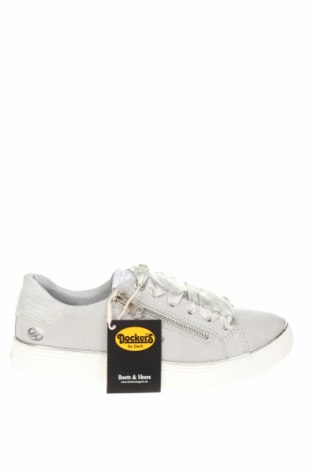 Γυναικεία παπούτσια Dockers by Gerli, Μέγεθος 36, Χρώμα Γκρί, Δερματίνη, κλωστοϋφαντουργικά προϊόντα, Τιμή 16,01€