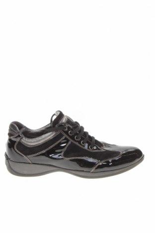 Дамски обувки Gas, Размер 38, Цвят Черен, Естествена кожа, естествен велур, Цена 31,05лв.