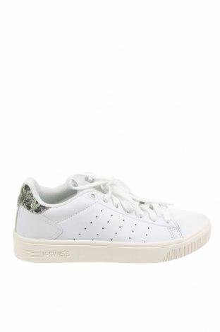 Дамски обувки K.Swiss, Размер 39, Цвят Бял, Естествена кожа, Цена 89,25лв.