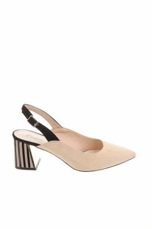 Дамски обувки Menbur, Размер 37, Цвят Бежов, Текстил, Цена 51,00лв.