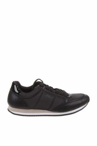 Дамски обувки S.Oliver, Размер 38, Цвят Черен, Текстил, еко кожа, Цена 40,05лв.
