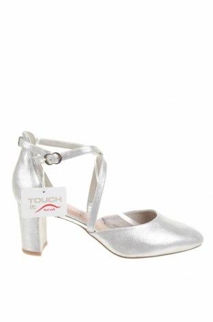 Дамски обувки Tamaris, Размер 42, Цвят Сребрист, Естествена кожа, Цена 65,45лв.