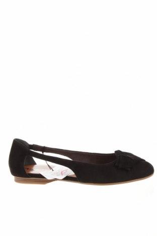 Дамски обувки Tamaris, Размер 41, Цвят Черен, Естествен велур, Цена 69,02лв.