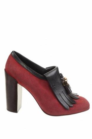 Дамски обувки Tory Burch, Размер 40, Цвят Червен, Естествена кожа, естествен велур, Цена 216,00лв.