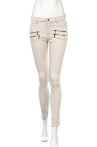 Дамски панталон, Размер S, Цвят Бежов, 70% памук, 28% полиестер, 2% еластан, Цена 5,86лв.