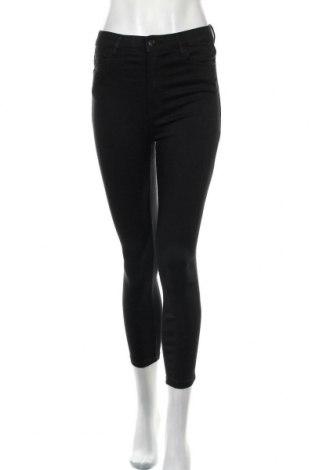 Pantaloni de femei Bershka, Mărime M, Culoare Negru, 78% lyocell, 21% poliester, 1% elastan, Preț 55,96 Lei